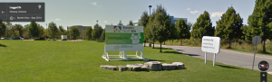 Community Hub sign on Legget